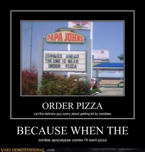 sign zombie pizza awesome - 3254856448