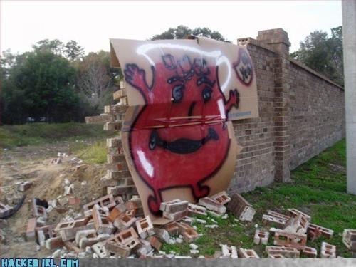 brick wall destruction - 3254957568