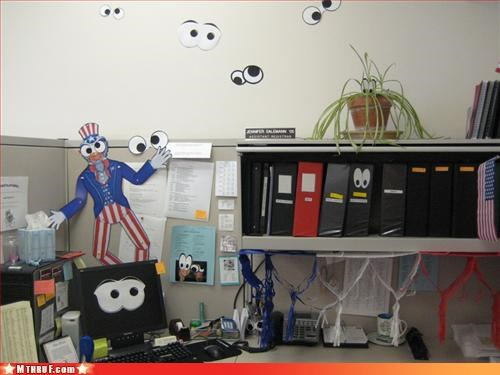 awesome co-workers not boredom clever creativity in the workplace cubicle boredom cubicle prank dickhead co-workers dickheads googly eyes megans-law passive aggressive pervert prank pwned Sad sass Terrifying wiseass - 3256569344