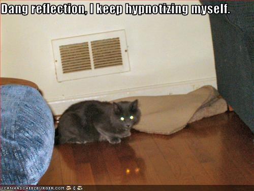 Dang reflection, I keep hypnotizing myself.