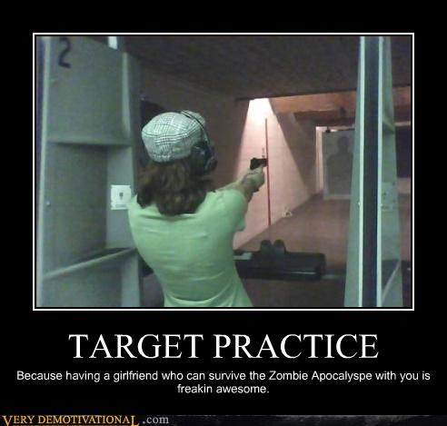 girls guns Pure Awesome target practice zombie - 3257041664