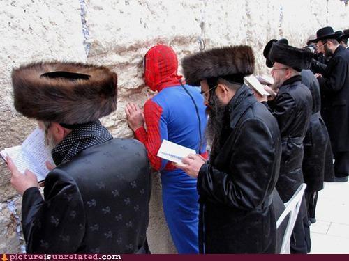 kotel,Spider-Man,Wailing Wall,wtf