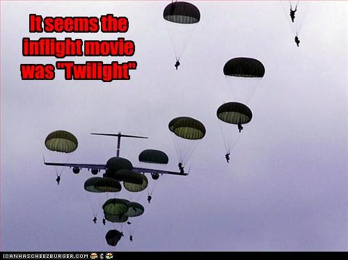 military movies parachuting paratroopers twilight