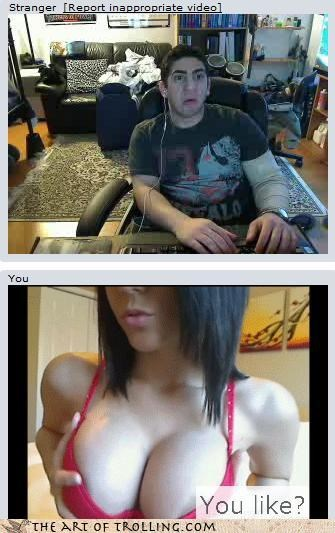 Chat Roulette lady fun bags shocked - 3258342656
