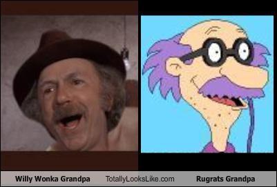 Grandpa,jack abertson,rugrats,Willy Wonka