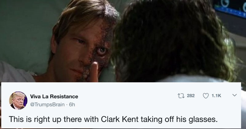 People on Twitter are laughing because Harvey Dent didn't realize it was the Joker in Dark Knight until he took off his nurse uniform.