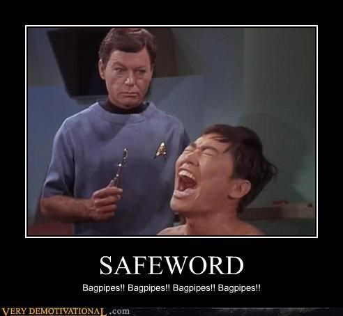 bagpipes,safe word,Star Trek