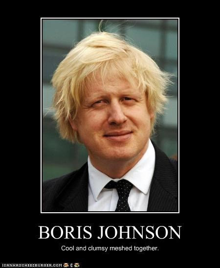 BORIS JOHNSON Cool and clumsy meshed together.