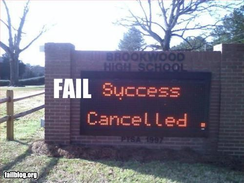 cancelled failboat g rated LED Sad sign - 3260119296