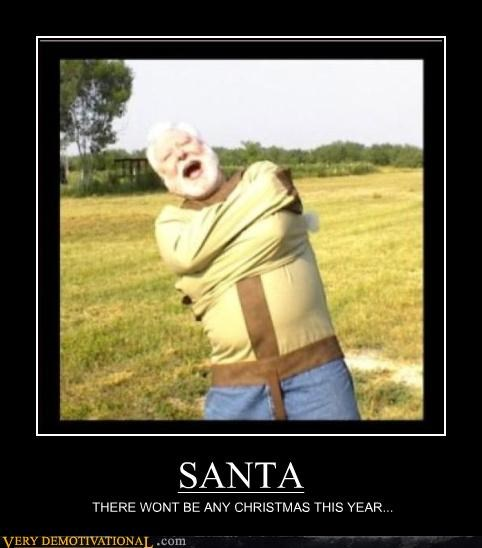 crazy lost it santa