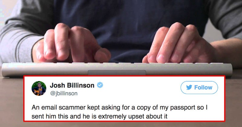 Journalist perfectly trolls an irritating email scammer by replying with a copy of Jason Bourne's passport.