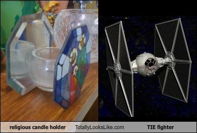 candle religious star wars tie fighter