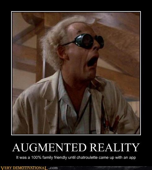 Augmented reality back to the future Doc Brown