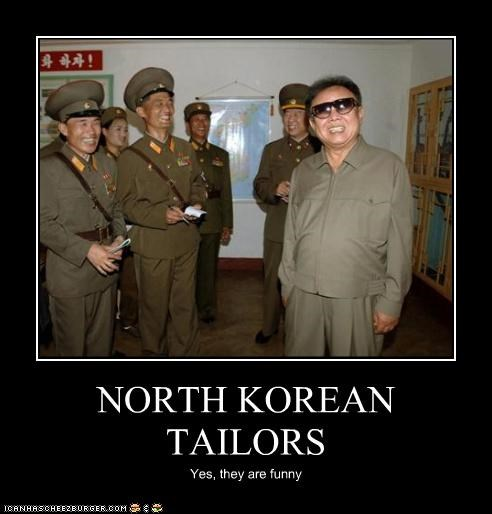 NORTH KOREAN TAILORS Yes, they are funny