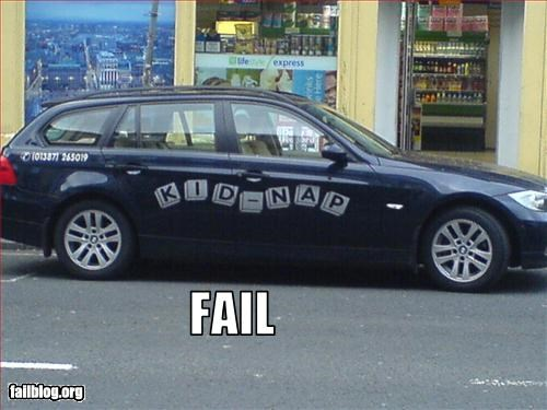 bad idea car day care failboat kidnap - 3264054784