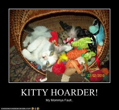 KITTY HOARDER! My Mommys Fault..