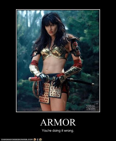 ARMOR You're doing it wrong.