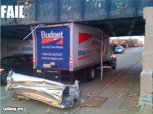 crash driving g rated low bridge stuck truck - 3265864704