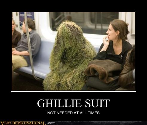 demotivational ghillie suit public transit Pure Awesome sniper stealth