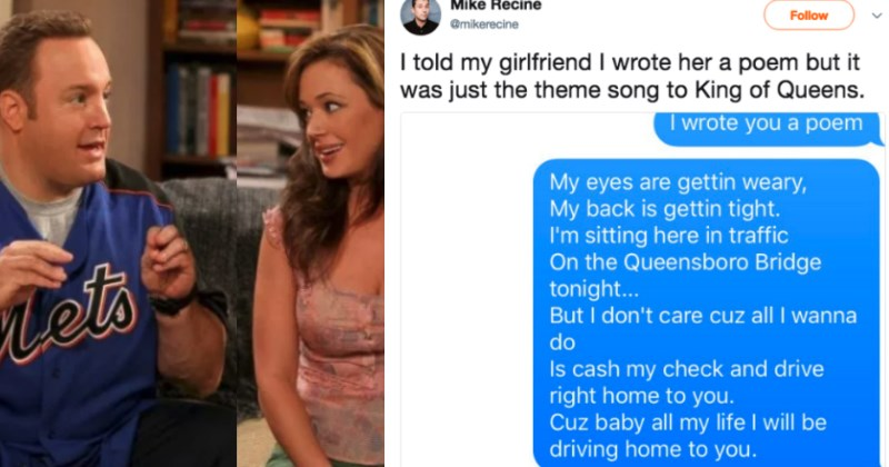 Guy Texts His Girlfriend the King of Queens Theme Song and She Totally Buys It
