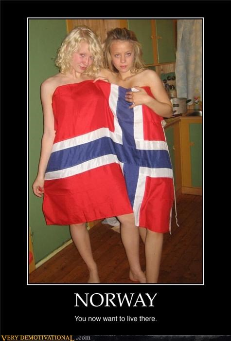 babes demotivational Norway Pure Awesome - 3268043264