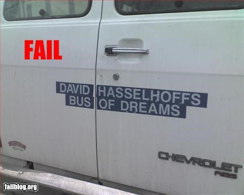 bus,david hasselhoff,dream,g rated