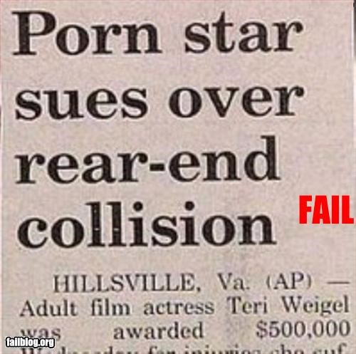 collision,double entendre,headling,innuendo,news,porn,rear,star