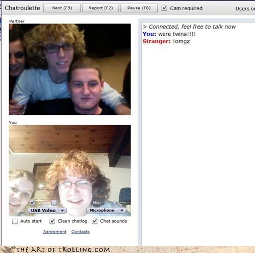 Chat Roulette,eww,ginger nuts,gingers