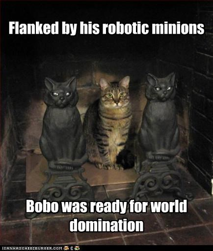 Flanked by his robotic minions Bobo was ready for world domination