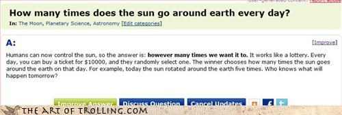 earth gullible sun Yahoo Answer Fails - 3274079744