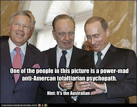 One of the people in this picture is a power-mad anti-Amercan totaltiarian psychopath. Hint: It's the Australian
