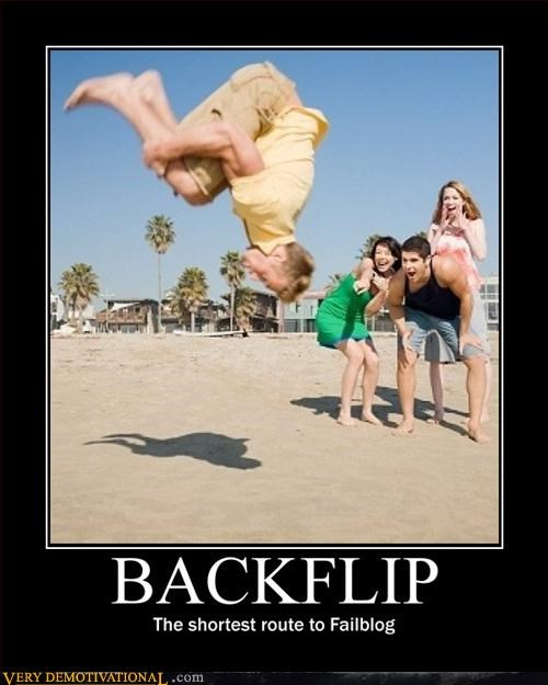 athletics backflip demotivational FAIL failblog idiots jumping - 3277211136