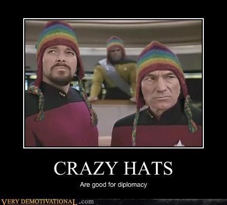 demotivational diplomacy hats Pure Awesome Star Trek - 3277426432