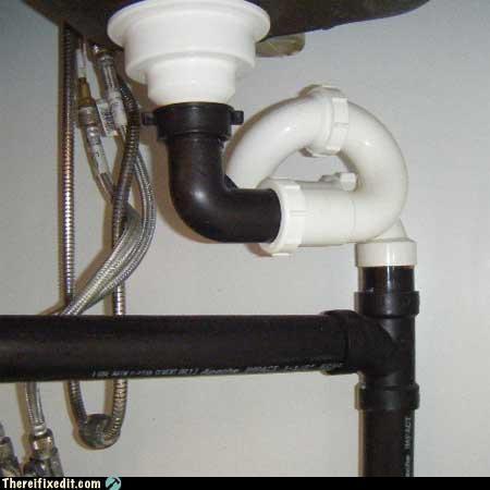 pipe PVC sink too much effort water - 3277800448