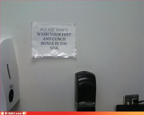 basic instructions bathroom busted common sense cubicle rage dickhead co-workers disgusting dishes gross hygeine mess official sign paper signs Sad savages signage Terrifying washing - 3279682304