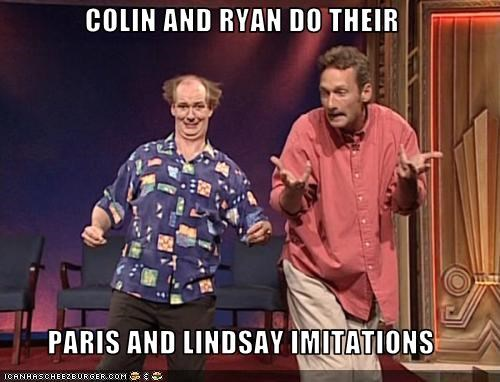 colin mochrie comedy impressions improv lindsay lohan paris hilton ryan stiles whose line is it anyway - 3280707584