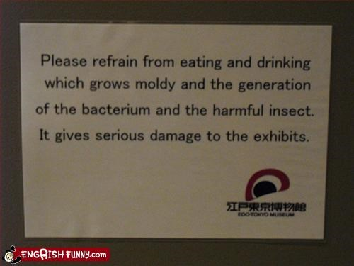 exhibit,notice,warning