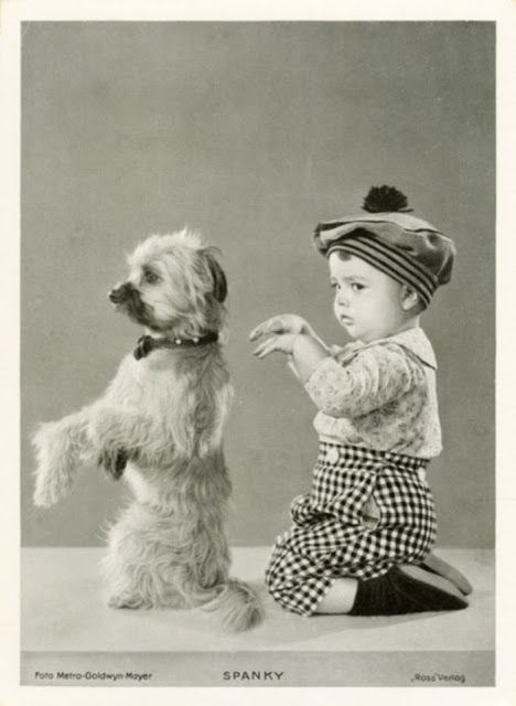 cute vintage photos of kids and their pets