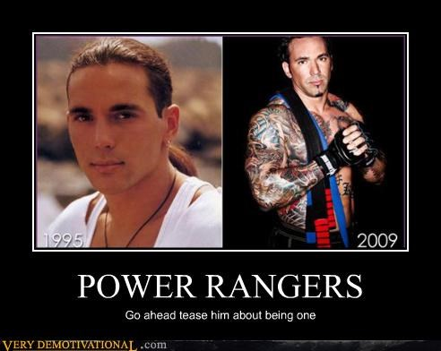 demotivational green ranger Jason David Frank power rangers Terrifying Tommy Oliver white ranger