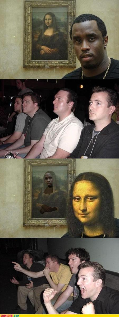 celebutard celebutards diddy mona lisa reaction guys t-diddy - 3282518528