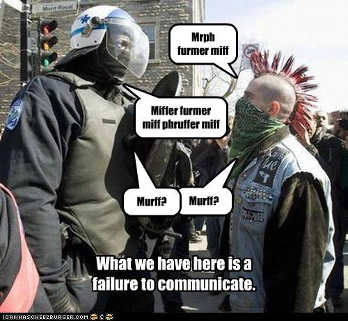 communication FAIL police punk riot gear riots - 3282879232