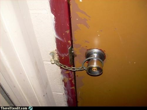chain door lock Mission Improbable ring