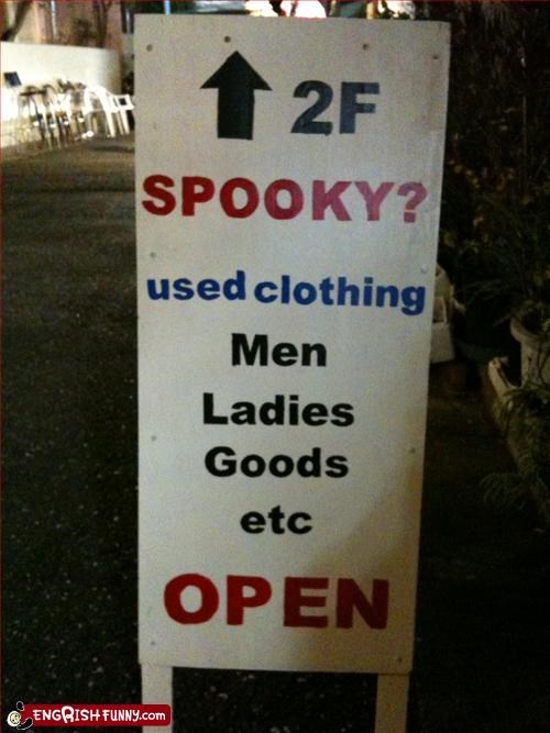 clothes,sign,spooky