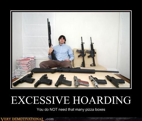 demotivational guns pizza Pure Awesome - 3286297344