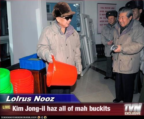bucket bukkit dictator Kim Jong-Il lolrus North Korea - 3287417600