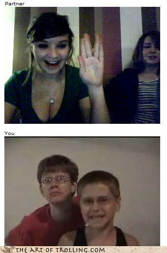 Chat Roulette,girls,little kids,Vulcan greetings