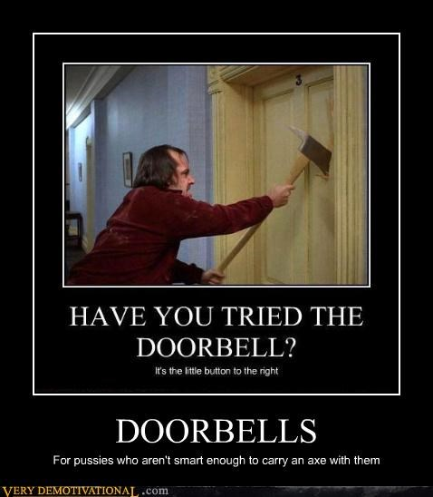 axe celeb demotivational doorbells idiots jack nicholson Mean People Terrifying the shining - 3289167872