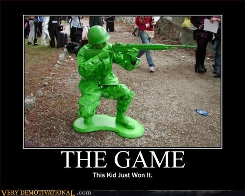 army guy,cos play,demotivational,Pure Awesome,soldier,the game