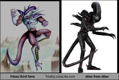 frieza third form Totally Looks Like alien from alien