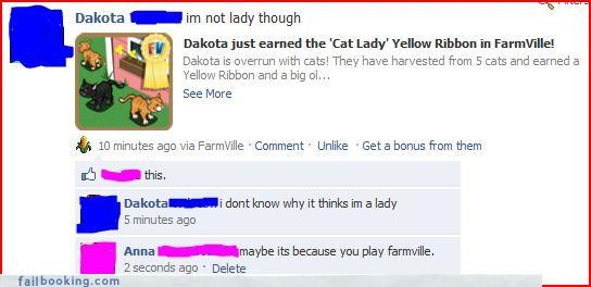 catlady,Farmville,gender bender,win